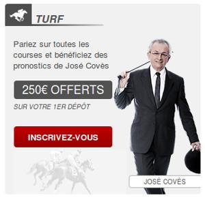 250 euros de bonus turf