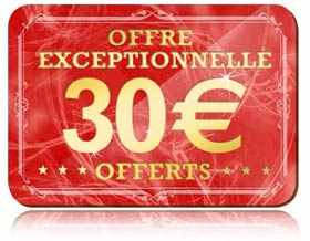 30 euros gratuits