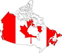 carte et drapeau du canada