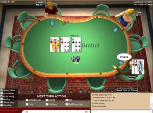 Que veut dire check au poker odds of making money at blackjack