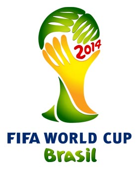 logo de la coupe du monde de football 2014 au Bresil