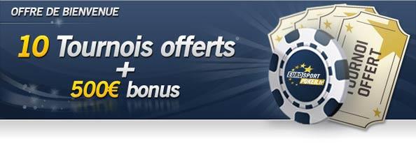 10 tournois gratuits offerts sur eurosport poker