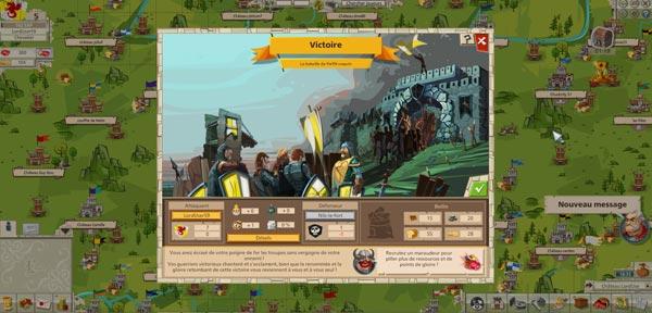 copie d'ecran d'une victoire de l'empire