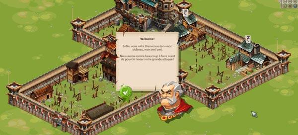 écran d'accueil sur Goodgame Epire