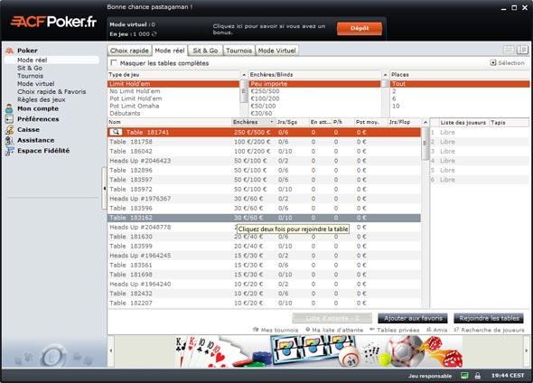 lobby acf poker