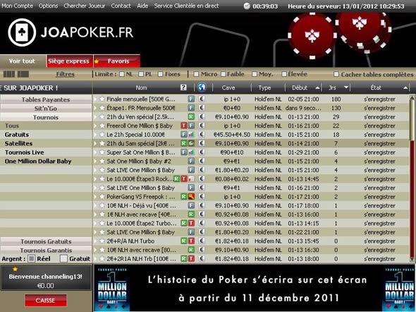 lobby joa poker