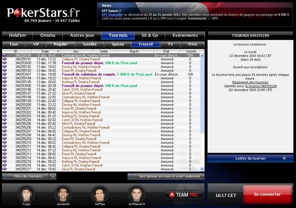 lobby pokerstars : trouver votre partie