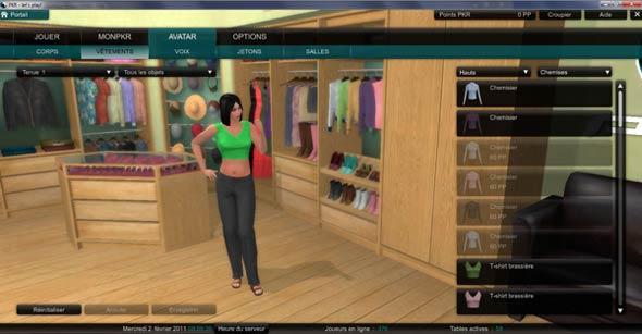 paramétrage de l'avatar sur PKR