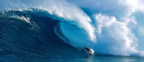 surfeur vagues Hawaï