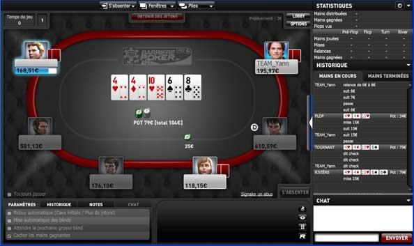 table de jeu sur barriere poker