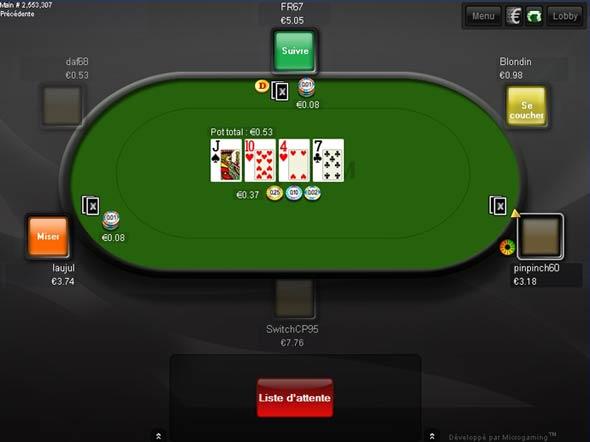 table de jeu sur poker xtrem